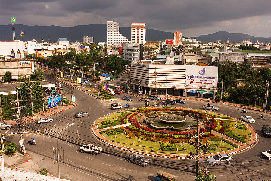 View of Hat Yai from the top of the President Hotel